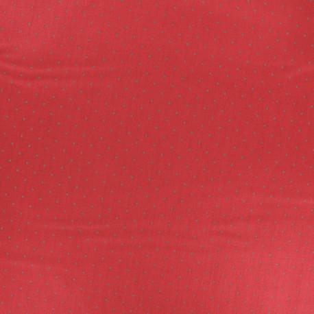 Satiny poplin Fabric - Red Tudor x 10cm