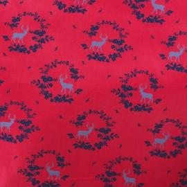 Tissu popeline satinée Norfolk - Rouge x 10cm