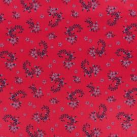 Tissu popeline satinée Balmoral - Rouge x 10cm