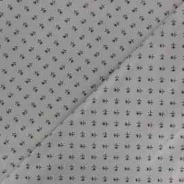 Satiny poplin Fabric - Grey Stuart x 10cm