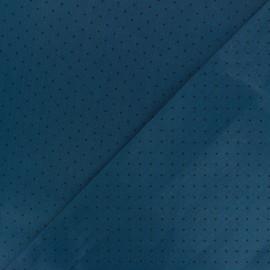 Satiny poplin Fabric - blue Tudor x 10cm