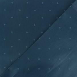 Satiny poplin Fabric - blue Lancaster x 10cm