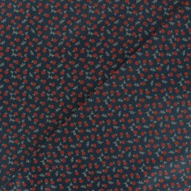 Tissu popeline satinée Windsor - Bleu marine x 10cm