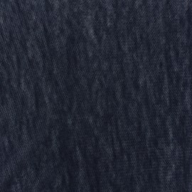 Tissu Maille légère ajourée - bleu marine x 10cm