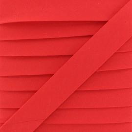Biais Coton Bio 20 mm - Rouge Coquelicot x 1m