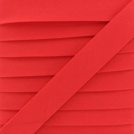 20 mm Organic Bias Binding - Bright Red