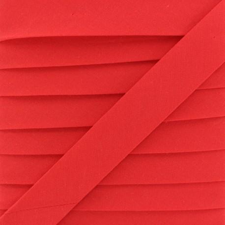 Biais Coton Bio 20 mm - Rouge Vif