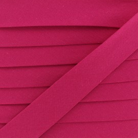 20 mm Organic Bias Binding - Raspberry x 1m