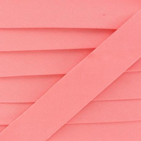 Biais Coton Bio 20 mm - Rose Corail