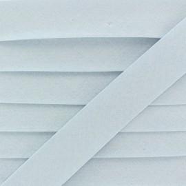 Biais Coton Bio 20 mm - Ciel