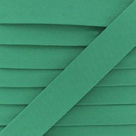 Biais Coton Bio 20 mm - Vert x 1m