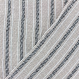 Twill Linen Cotton fabric - beige Ariana x 10cm