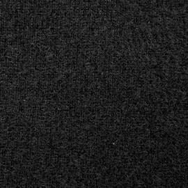 Velvet Velcro fabric - Black x 10 cm