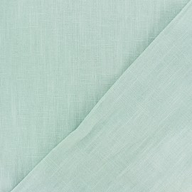 Washed Linen (135cm) Fabric - opalin green x 10cm