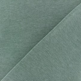 Tissu sweat chiné - vert sauge x 10cm