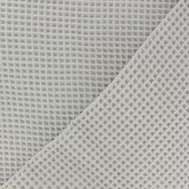 Tissu piqué de coton nid d'abeille - sable x 10cm