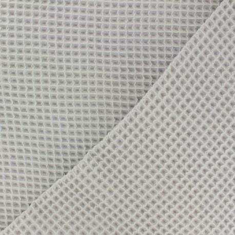 Waffle stitch cotton fabric - Sand x 10cm