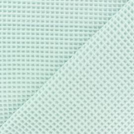 Tissu piqué de coton nid d'abeille - menthe à l'eau x 10cm