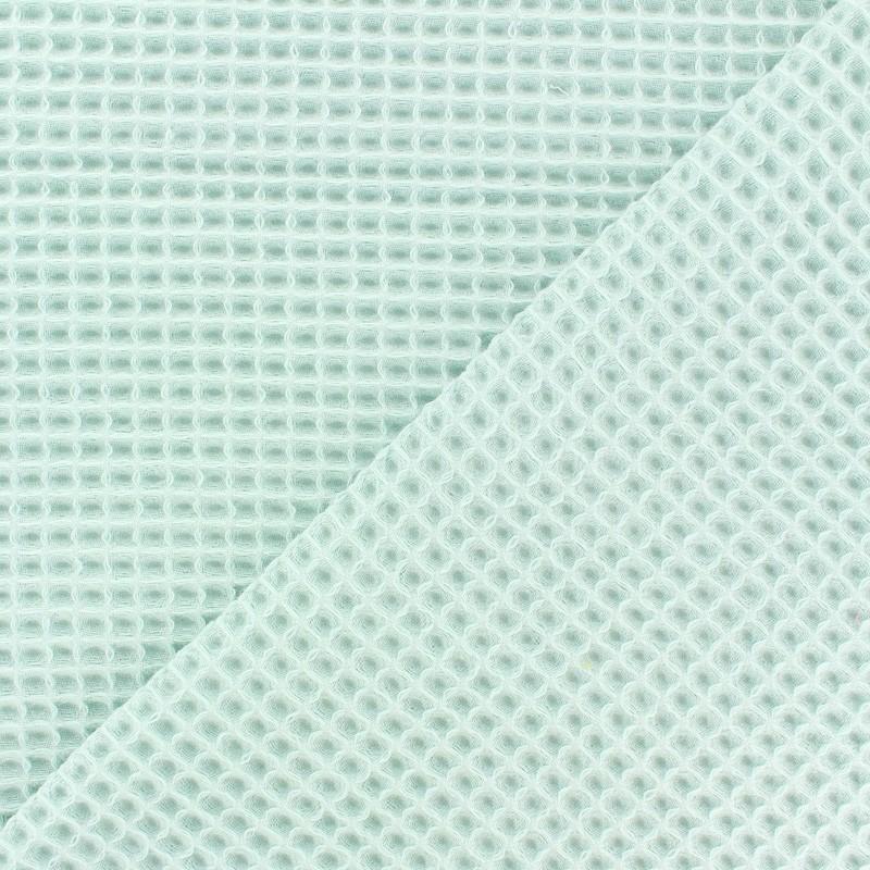 8f00eb6fe4 Waffle stitch Oeko-Tex cotton fabric - mint green x 10cm