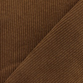 Elastane thick ribbed velvet fabric - Brown x 10cm