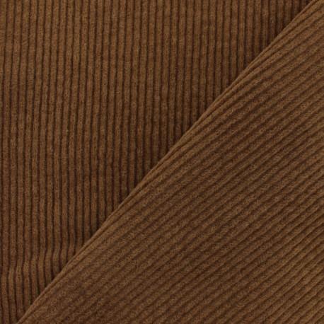 Elastane thick ribbed velvet fabric - Brown x 10cm