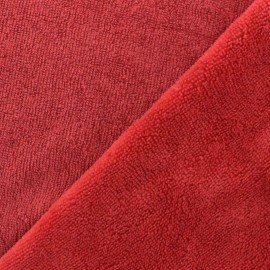 Tissu Micro-éponge Bambou - rouge x 10cm