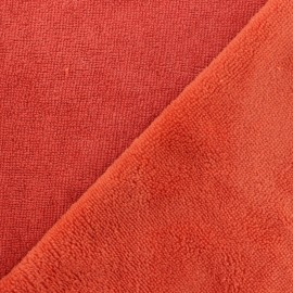 Micro Bamboo Towel fabric - brick red x 10cm
