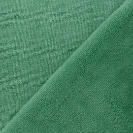 Tissu éponge Bambou - vert x 10cm