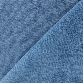 Micro Bamboo Towel fabric - blue x 10cm