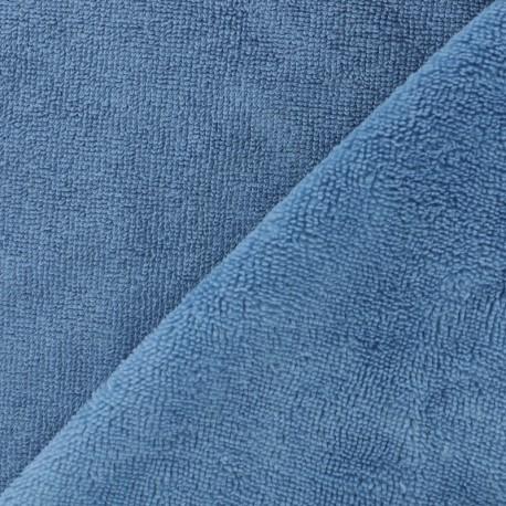 Tissu éponge Bambou - bleu x 10cm