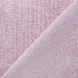 Tissu éponge Bambou - rose clair x 10cm