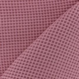 Waffle stitch cotton fabric - orchid pink x 10cm