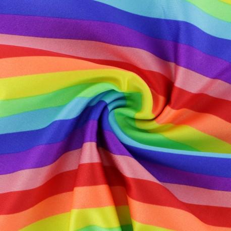 Swimsuit Lycra fabric - Rainbow color x 10cm