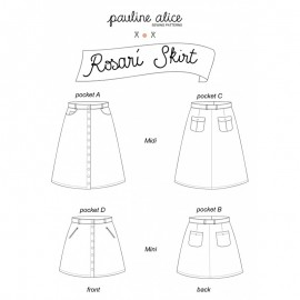 Skirt Sewing Pattern - Pauline Alice Rosarí