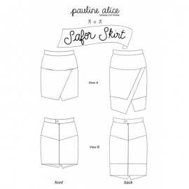 Skirt Sewing Pattern - Pauline Alice Safor