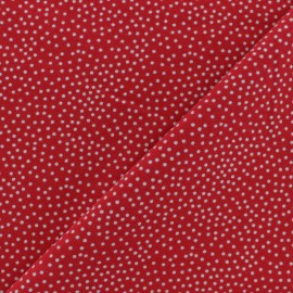 Poppy French Terry fabric - black Constellation x 10cm