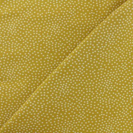 Tissu Poppy sweat léger Constellation - jaune moutarde x 10cm