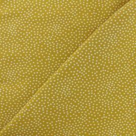 Tissu Poppy sweat léger Constellation - jaune moutarde x 10cm