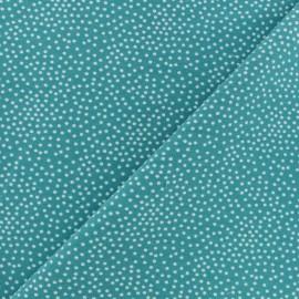Tissu Poppy sweat léger Constellation - vert paon x 10cm