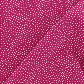 Poppy French Terry fabric - Fuchsia Constellation x 10cm