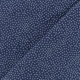 Tissu Poppy sweat léger Constellation - Fuchsia x 10cm