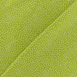 Poppy French Terry fabric - Lime green Constellation x 10cm