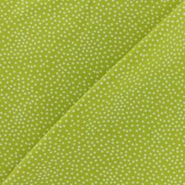 Tissu Poppy sweat léger Constellation - citron vert x 10cm