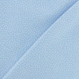 Poppy French Terry fabric - Sky Blue Constellation x 10cm