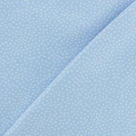 Tissu Poppy sweat léger Constellation - Bleu ciel x 10cm