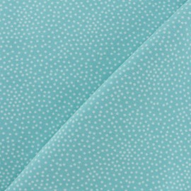 Poppy French Terry fabric - Aqua Blue Constellation x 10cm