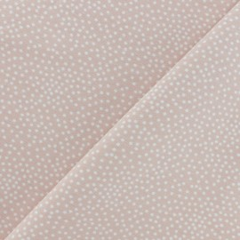 Poppy French Terry fabric - Powder pink Constellation x 10cm