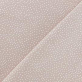 Tissu Poppy sweat léger Constellation - Rose poudré x 10cm