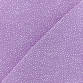 ♥ Coupon 20 cm X 150 cm ♥ Tissu Poppy sweat léger Constellation - Lilas