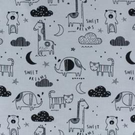 Tissu jersey Poppy Sweet dreams - gris x 10cm